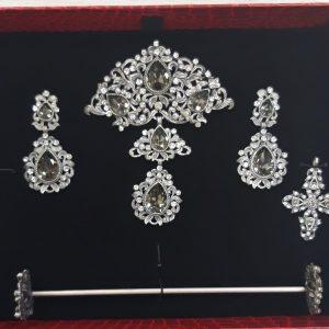 Aderezo Huertana Cristal Negro Transparente Completo