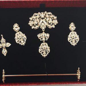 Aderezo Alicantina Oro Brillo Completo